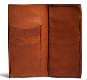 szyte ręcznie markowe portfele męskie skórzane